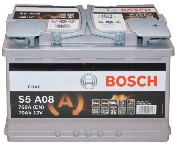 bosch s5 a08 12v 70ah 760a agm vrla start stop starterbatterie ebay. Black Bedroom Furniture Sets. Home Design Ideas