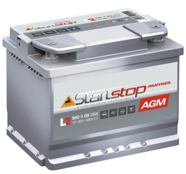 Panther L2 Start+Stop AGM 12V 60Ah 680A