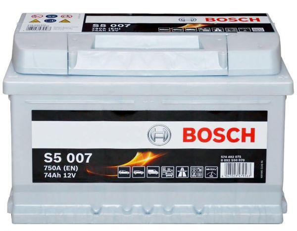 Bosch S5 007 12V 74Ah 750A (0 092 S50 070)