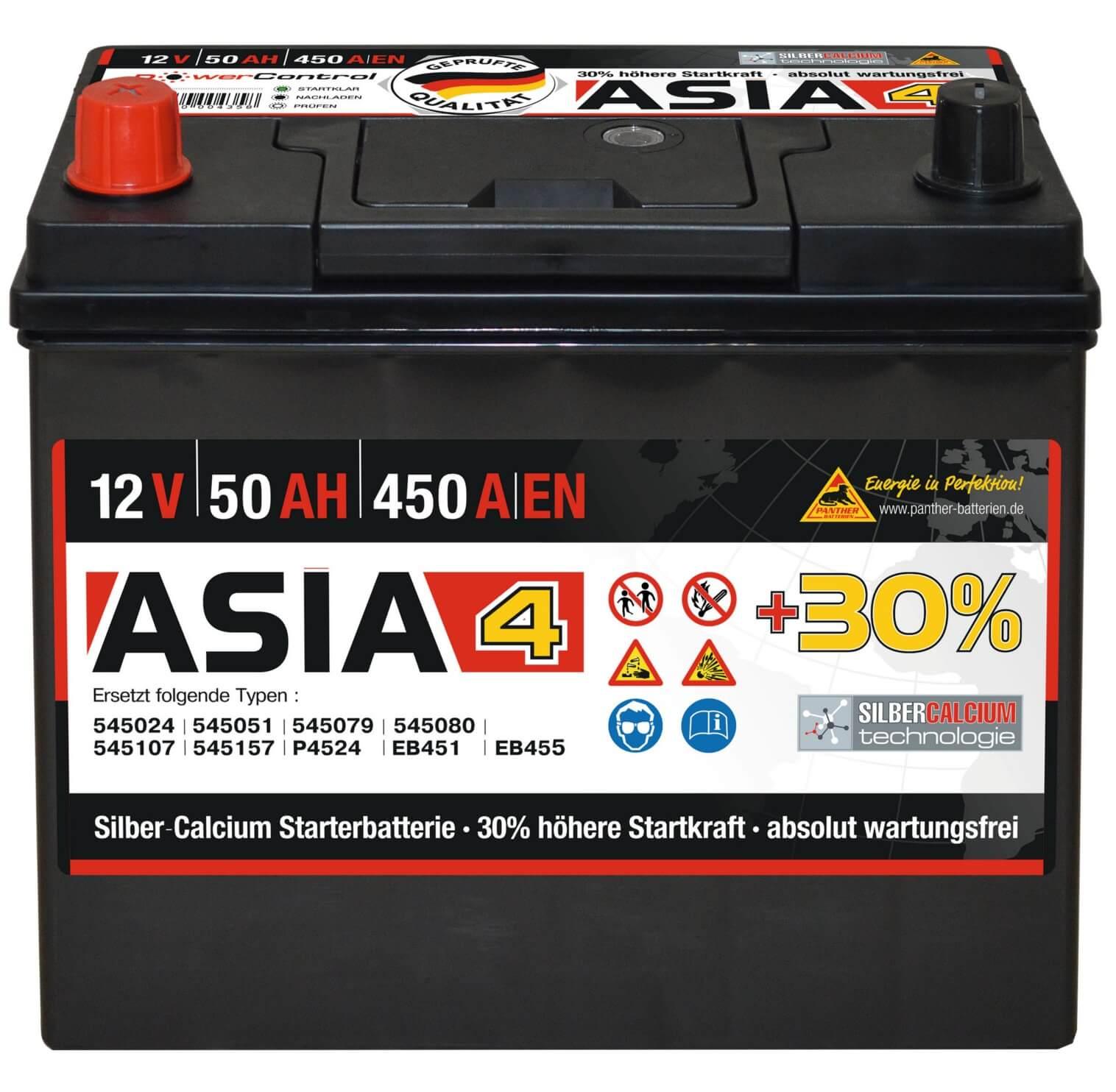 panther asia autobatterie 12v 50ah. Black Bedroom Furniture Sets. Home Design Ideas