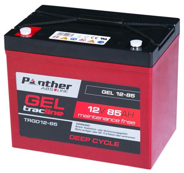 panther tracline gel 12v 85ah akku deepcycle batterie. Black Bedroom Furniture Sets. Home Design Ideas