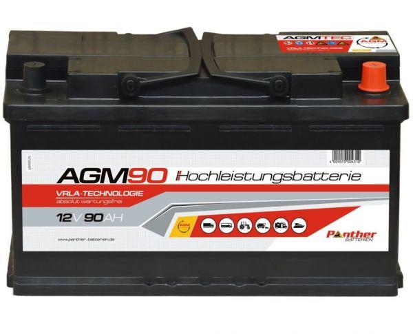 starterbatterie panther start stop agm 12v 90ah 850a. Black Bedroom Furniture Sets. Home Design Ideas