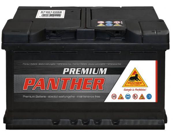 Panther Premium 12V 74Ah 680A DIN 57412