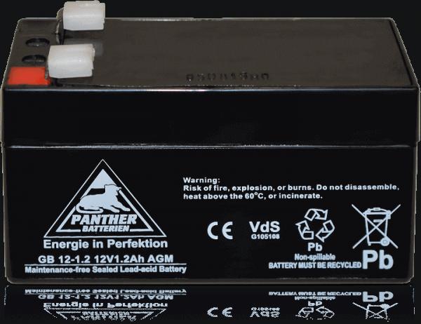 Panther AGM-TECH 12V 1,2Ah DIN GB.12-1.2