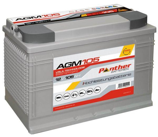 Panther AGM 105 12V 105Ah VRLA Versorgerbatterie
