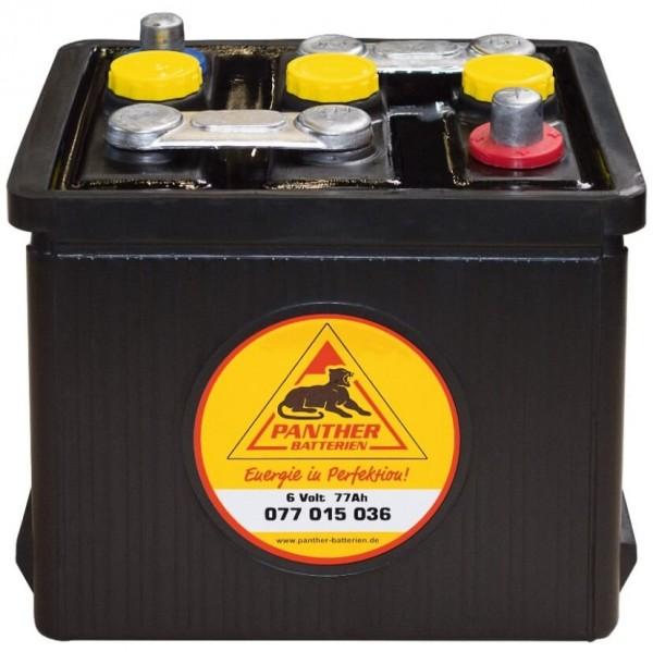 Panther Oldtimer 6V 77Ah 360A/EN DIN 07715 Starterbatterie