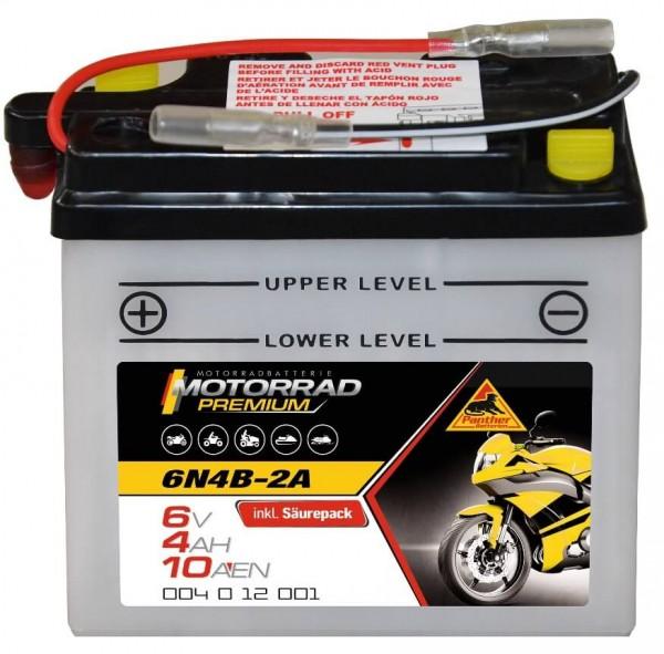 Panther Premium 6V 4Ah 10A DIN 00412 / 6N4B-2A