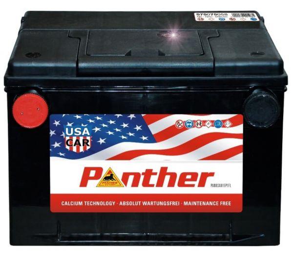 Panther US-CAR 12V 75Ah 510A DIN 57575 Starterbatterie