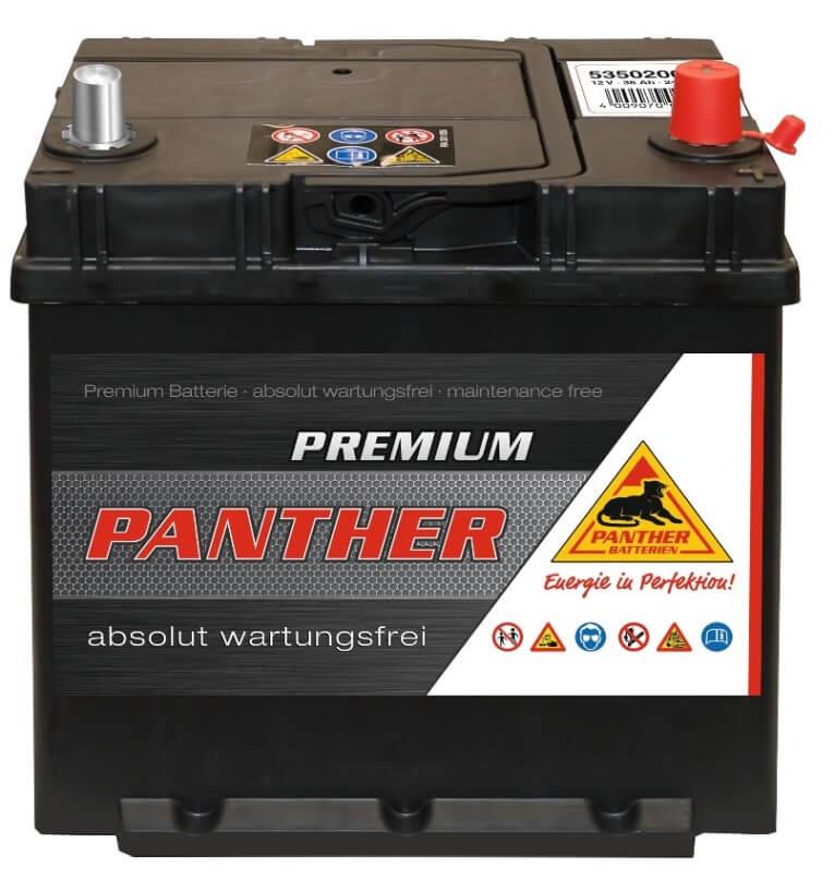 panther premium 12v 35ah autobatterie starterbatterie. Black Bedroom Furniture Sets. Home Design Ideas