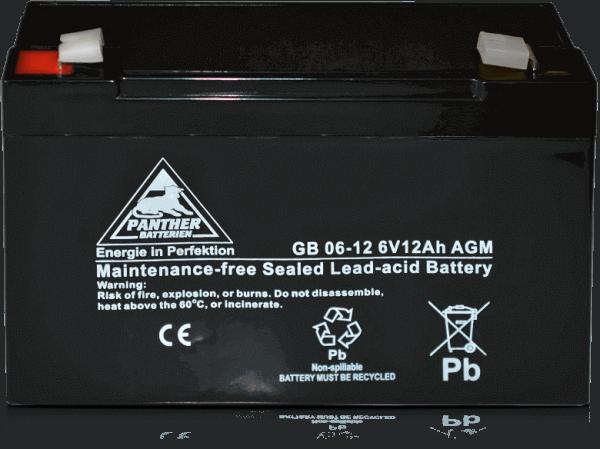 Panther AGM-TECH 6V 12Ah DIN GB.06-12