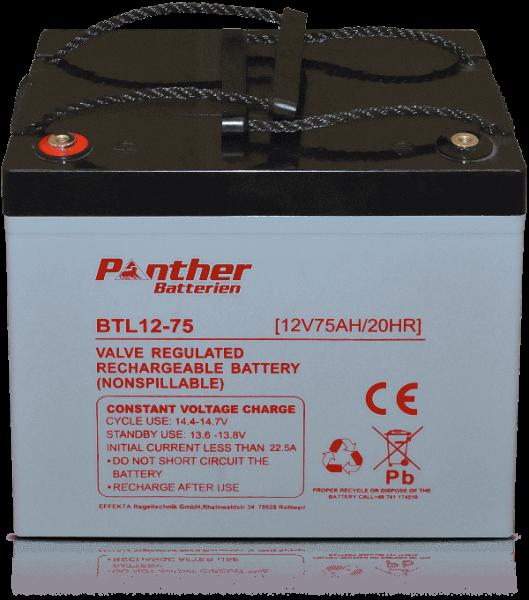 Panther AGM-TECH 12V 75Ah DIN GB.12-75