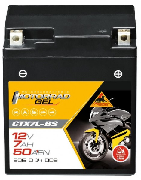 Panther GEL 12V 6Ah 120A DIN 50614 / CTX7L-BS
