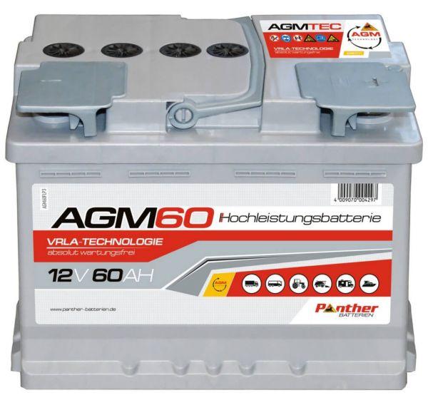 Panther AGM60 12V 60Ah VRLA Versorgerbatterie