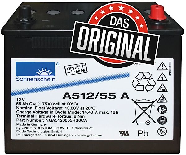 Sonnenschein GEL 12V 55Ah A512/55 A