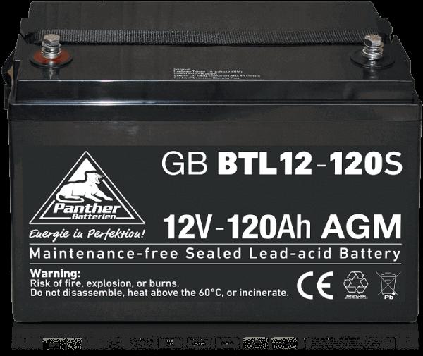 Panther AGM-TECH 12V 120Ah DIN GB.12-120S