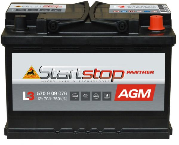Panther L3 Start+Stop AGM 12V 70Ah 760A