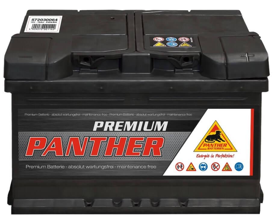 panther autobatterie 12v 72ah din 57230. Black Bedroom Furniture Sets. Home Design Ideas