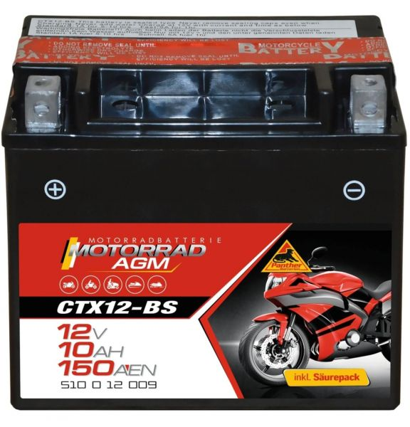 Panther AGM 12V 10Ah 90A DIN 51012 / CTX12-BS
