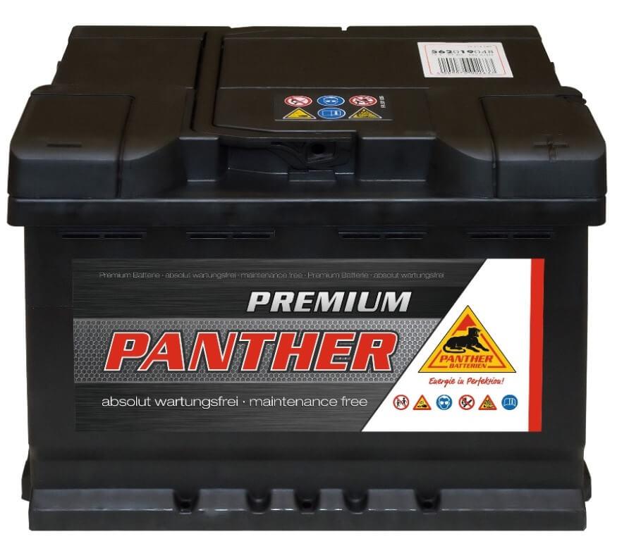 panther premium 12v 62ah autobatterie starterbatterie. Black Bedroom Furniture Sets. Home Design Ideas