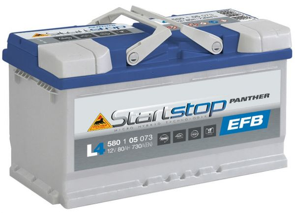 Panther Start+Stop EFB 12V 80Ah 730A