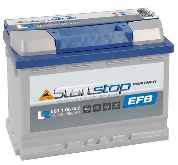 Panther Start+Stop EFB 12V 60Ah 560A