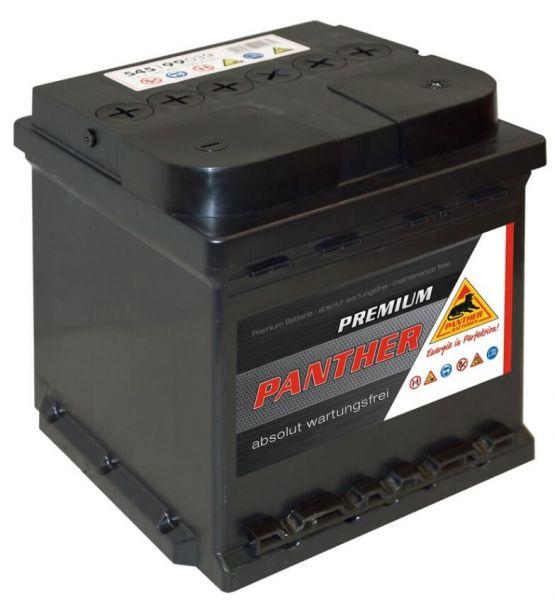 Panther Premium 12V 45Ah 390A DIN 54599 FIAT Batterie
