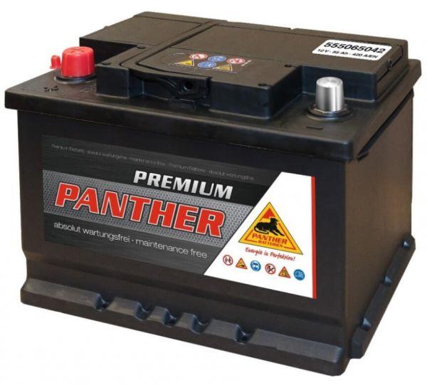 Panther Premium 12V 55Ah 420A DIN 55565