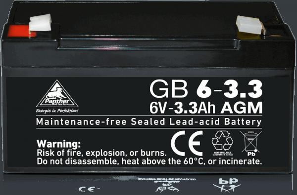 Panther AGM-TECH 6V 3,3Ah DIN GB.06-3.3