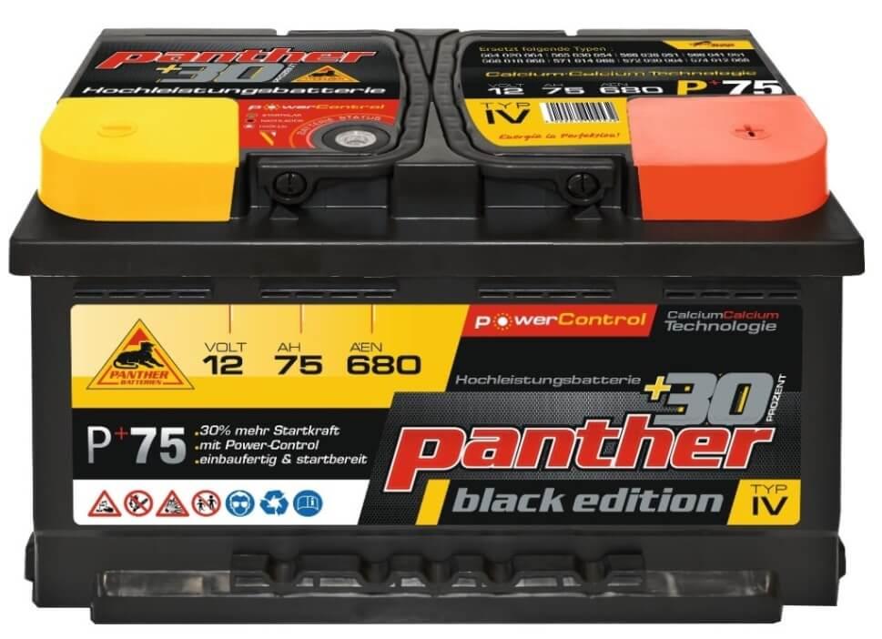 panther batterie 30 12v 75ah autobatterie. Black Bedroom Furniture Sets. Home Design Ideas