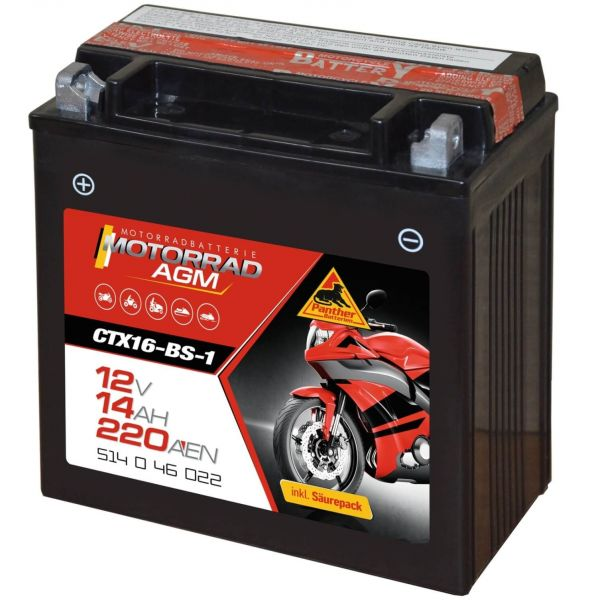 Panther AGM 12V 14Ah 220A DIN 51446 / CTX16-BS -1